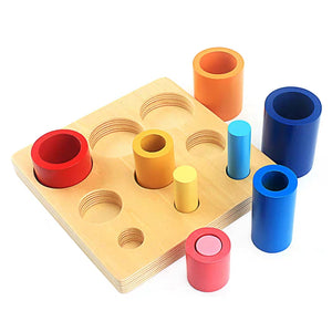Montessori Wooden Knobbed Cylinders