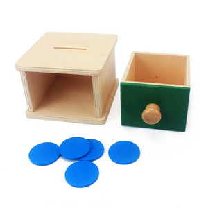 [Ready Stock] Montessori Imbucare Slot with Coin and Discs