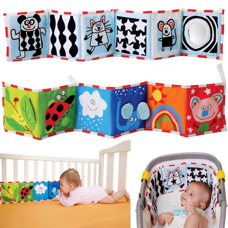 [Ready Stock] Coloured and Black & White Cot Bumper Book
