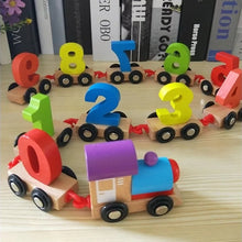 Load image into Gallery viewer, Montessori Wooden Number Train