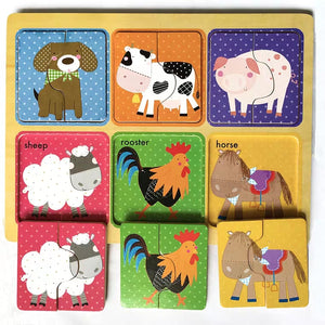 Two Piece Animal Puzzles