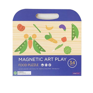 Magnetic Art Play Food Puzzle