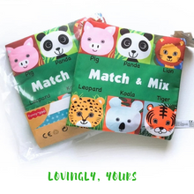 Load image into Gallery viewer, Match And Mix Animal Soft Book