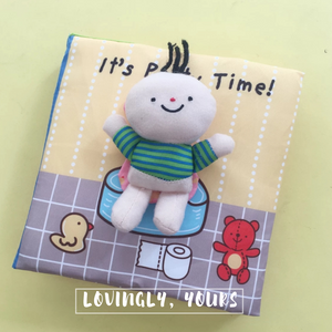 [Ready Stock] Baby Soft Books - It's Bath Time & It's Potty Time