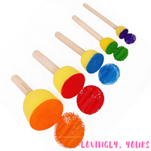Load image into Gallery viewer, Foam Round Brushes (Set of 5)