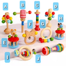 Load image into Gallery viewer, [Ready Stock] Baby Wooden Rattles (10 Different Designs)