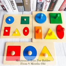Load image into Gallery viewer, [Ready Stock] Montessori 3 and 5 Piece Shape Puzzle