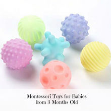 Load image into Gallery viewer, [Ready Stock] Montessori Textured Balls (Pastel)