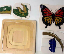 Load image into Gallery viewer, [Ready Stock] Montessori Nesting Life Cycle Puzzle (Butterfly)