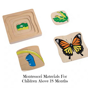 [Ready Stock] Montessori Nesting Life Cycle Puzzle (Butterfly)