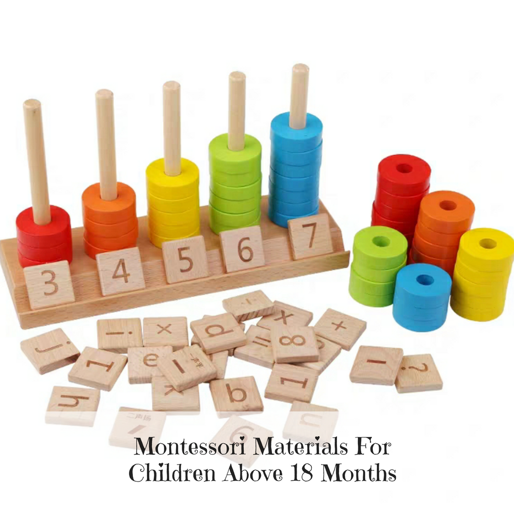 [Ready Stock] Montessori Colour & Number Sorting Rings Set