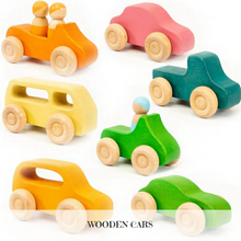 Load image into Gallery viewer, Wooden Cars (Set of 7)