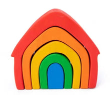 Load image into Gallery viewer, Wooden House Rainbow Stacker