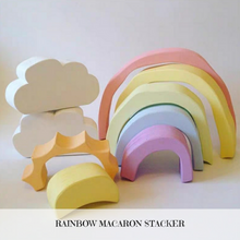 Load image into Gallery viewer, Wooden Rainbow Macaron Stacker