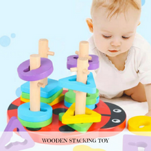 Load image into Gallery viewer, [Ready Stock] Wooden Ladybird 3D Puzzle Stacking Toy