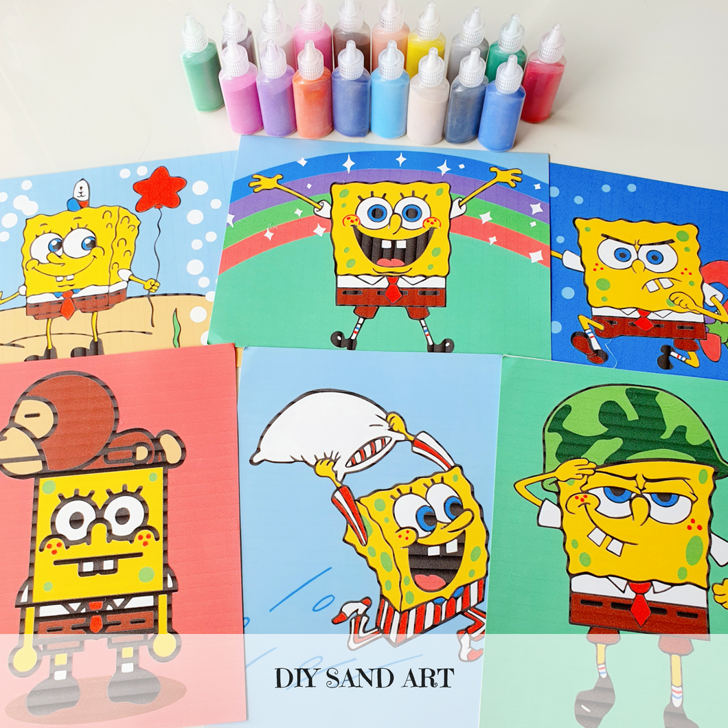 [Ready Stock] Sand Art - Spongebob Square Pants