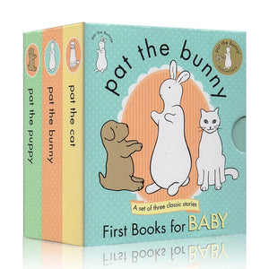 Pat The Bunny Touch & Feel First Book For Baby (Set of 3)