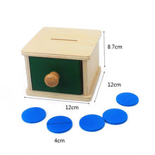 Load image into Gallery viewer, [Ready Stock] Montessori Imbucare Slot with Coin and Discs
