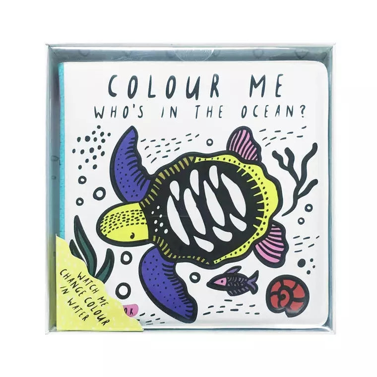 Colour Me Watercolour Book - Who's In The Ocean & Who's In The Pond