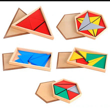 Load image into Gallery viewer, Montessori Shapes Tangram Puzzle