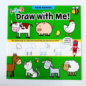 [Ready Stock] Draw With Me Books (Dino/Ocean/Farm/Wild Animals)