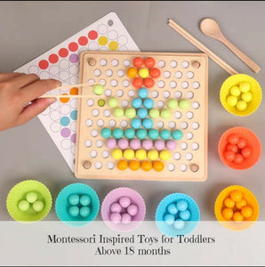 [Ready Stock] Montessori Pick Up Set