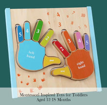 Load image into Gallery viewer, Montessori Fingers Nesting Puzzle