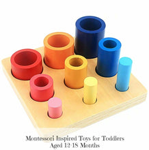 Load image into Gallery viewer, Montessori Wooden Knobbed Cylinders