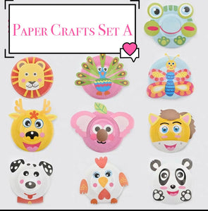 [Ready Stock] DIY Paper Plate Crafts (3 Different Sets)