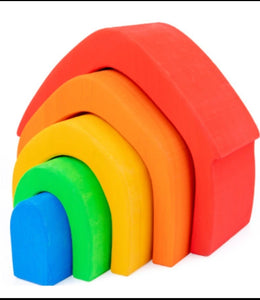 Wooden House Rainbow Stacker