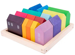 Wooden Colourful Block Houses