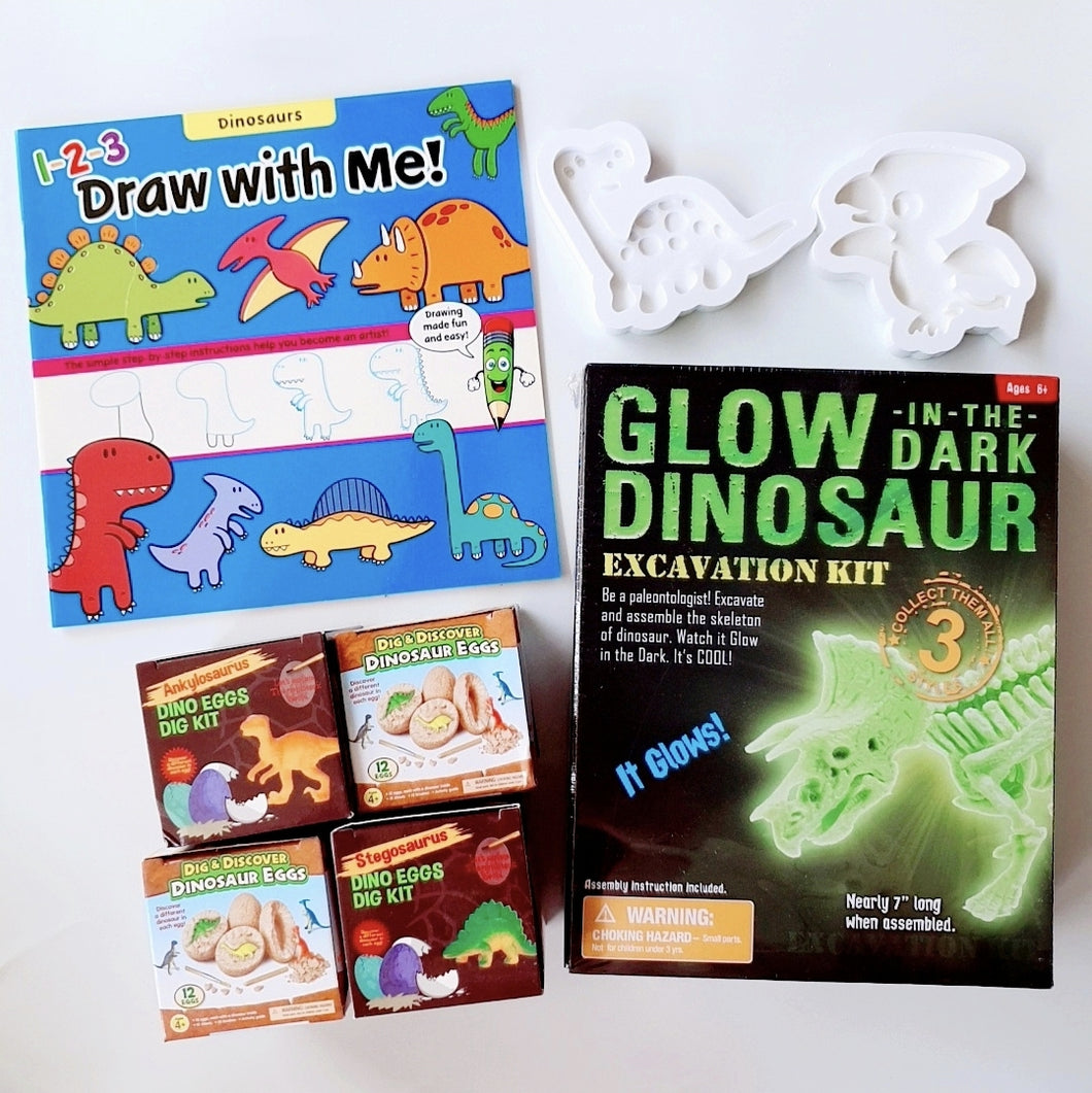 [Ready Stock] DIY Glow In The Dark Dino Kit II