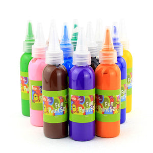 Removable Water Paint for Art & Crafts (Set of 12)