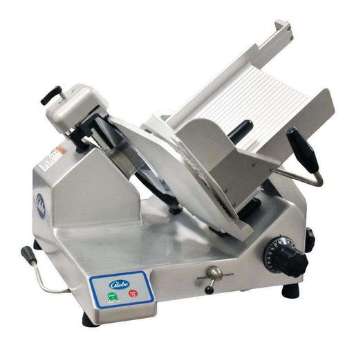 "Globe S13A Automatic Heavy Duty Slicer w/ 13"" Knife - Aluminum, 120v"