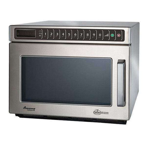 Amana HDC1815 Heavy-Duty Stainless Steel Commercial Microwave with Push Button Controls - 208/240V, 1800W