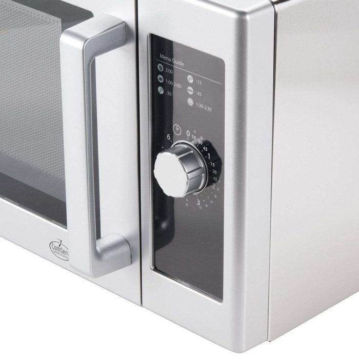 Amana RMS10DS Stainless Steel Commercial Microwave with Dial Controls - 120V, 1000W