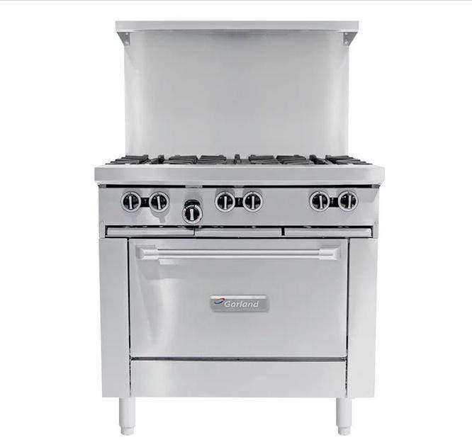 "Garland G36-6R Natural Gas 6 Burner 36"" Range with Standard Oven - 236,000 BTU"