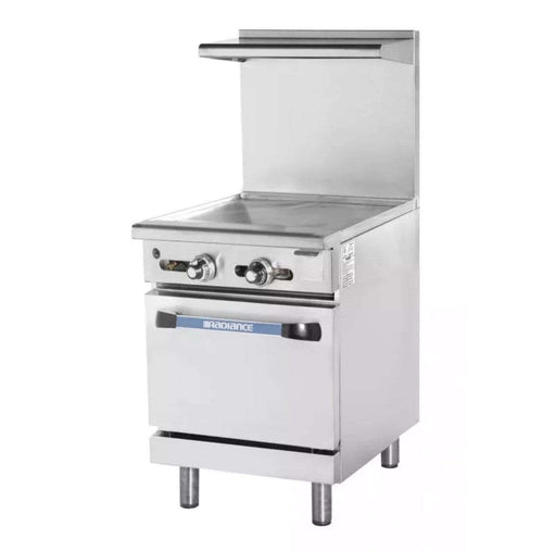 "Turbo Air TAR-24G 24"" Gas Range w/ Full Griddle & Space Saver Oven, Natural Gas"