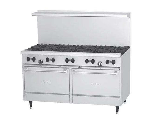 "Garland SunFire Series X60-10RR Natural Gas 10 Burner 60"" Gas Range with Two Standard Ovens - 366,000 BTU"