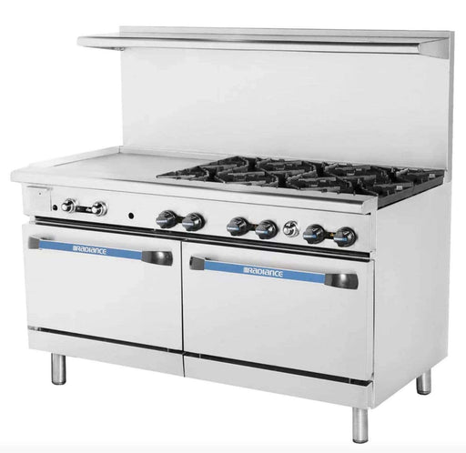 "Turbo Air TARG-24G2B 36"" 2 Burner Gas Range w/ Griddle & (2) Standard Ovens, Natural Gas"