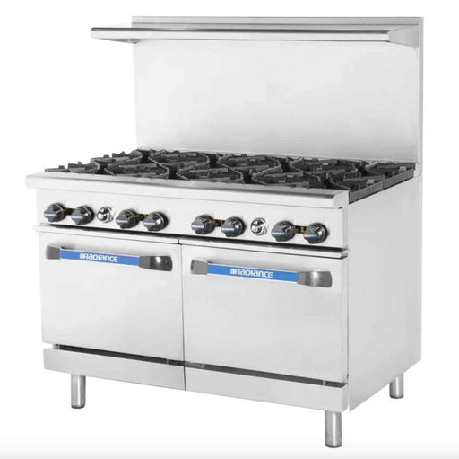 "Turbo Air TAR-8 48"" 8 Burner Gas Range w/ (2) Space Saver Ovens, Natural Gas"