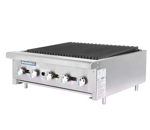 "Turbo Air TARB-30 30"" Countertop Charbroiler w/ Cast Iron Burners, Natural Gas"
