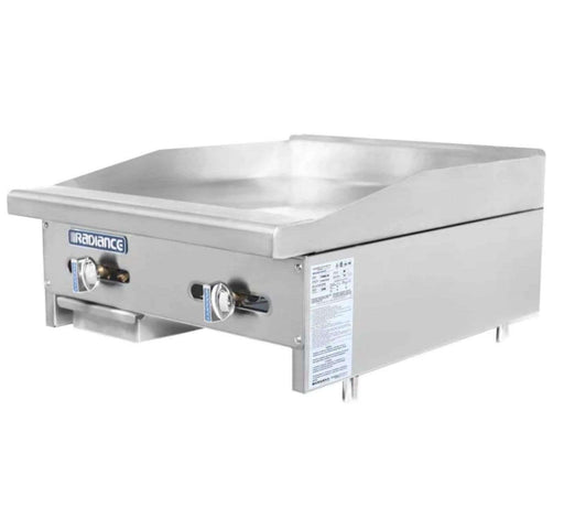 "Turbo Air TAMG-24 24"" Gas Griddle - Manual, 3/4"" Steel Plate, Natural Gas"
