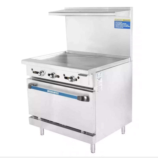 "Turbo Air TAR-36G 36"" Gas Range w/ Full Griddle & Standard Oven, Natural Gas"