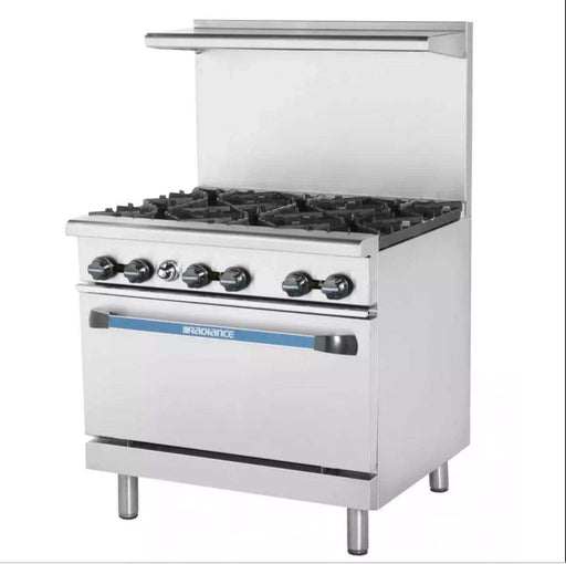 "Turbo Air TAR-6 36"" 6 Burner Gas Range w/ Standard Oven, Natural Gas"