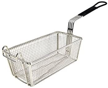Wincо FB-05, 10-Inch Heavy-Gauge Deep Fry Basket with Black Coated Handle, French Fries Fryer Basket, NSF