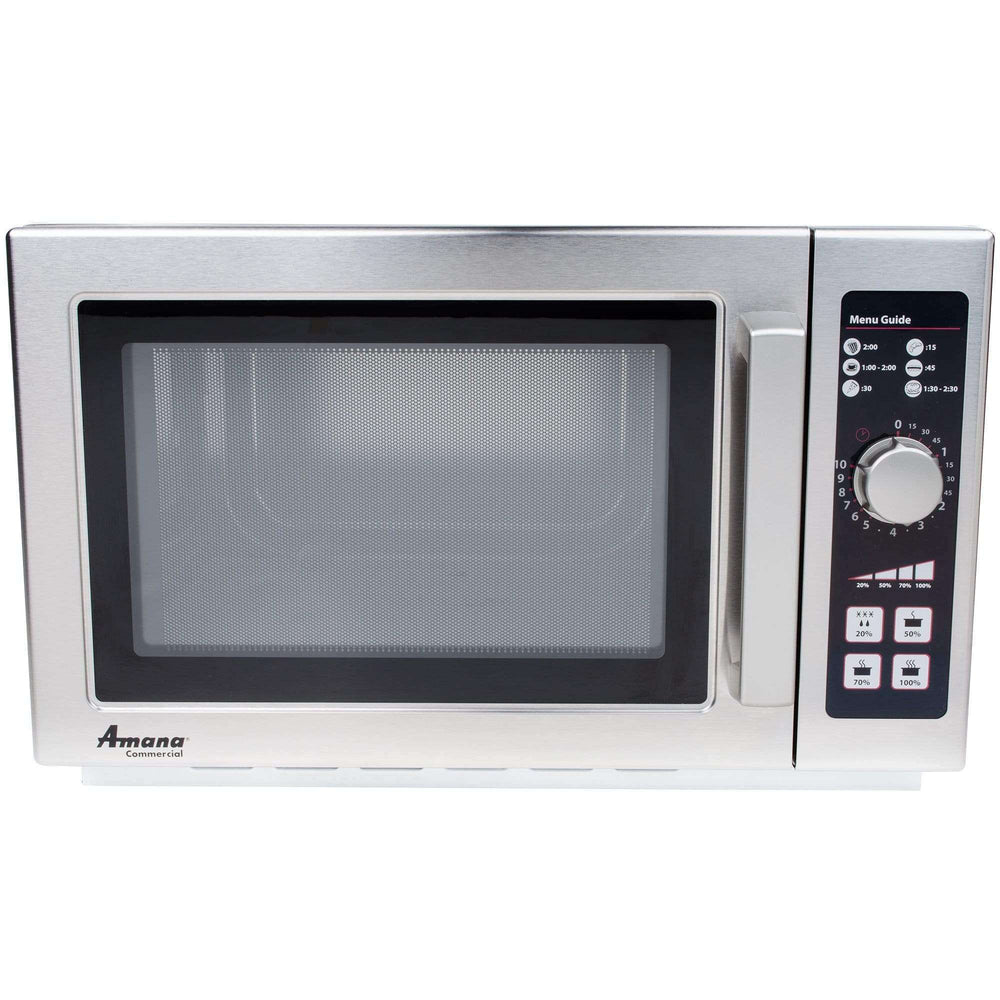 Amana RCS10DSE Medium Volume Stainless Steel Commercial Microwave - 120V, 1000W
