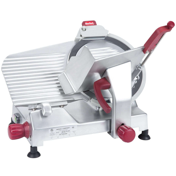 "Berkel 827E-PLUS 12"" Round Manual Slicer w/ Angled Gravity Feed & Knife Guard, Sharpener, 115v"