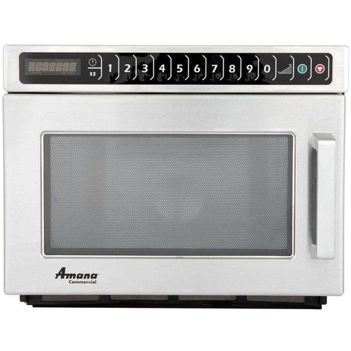 Amana HDC182 Heavy Duty Stainless Steel Commercial Microwave with Push Button Controls - 208/240V, 1800W