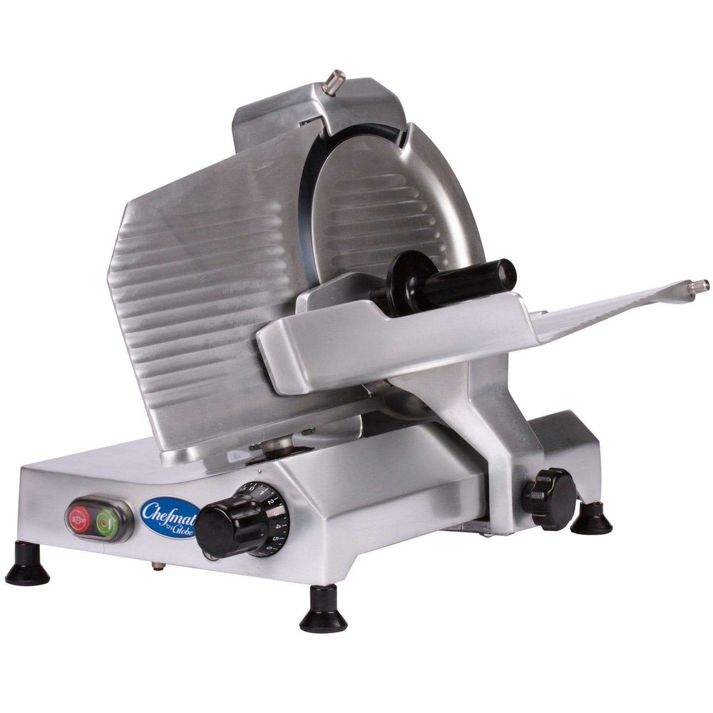 "Globe C10 10"" Manual Food Slicer w/ Knife Sharpener, Aluminum, 115v"